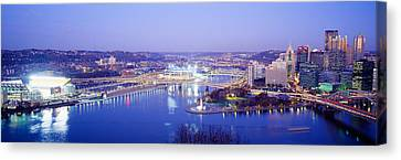 Pittsburgh, Pennsylvania, Usa Canvas Print by Panoramic Images