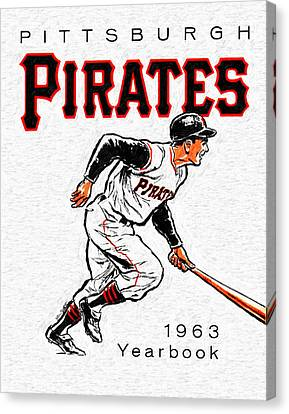 Pittsburgh Pirates 1963 Yearbook Canvas Print by Big 88 Artworks