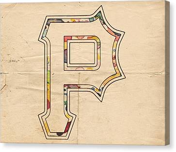 Pittsburgh Pirates Logo Art Canvas Print by Florian Rodarte