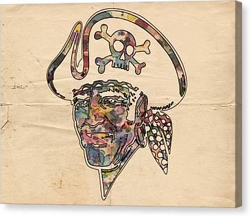 Pittsburgh Pirates Canvas Print - Pittsburgh Pirates Logo Vintage by Florian Rodarte