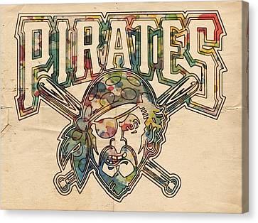 Pittsburgh Pirates Canvas Print - Pittsburgh Pirates Poster Vintage by Florian Rodarte