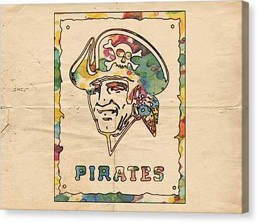 Pittsburgh Pirates Canvas Print - Pittsburgh Pirates Vintage Art by Florian Rodarte