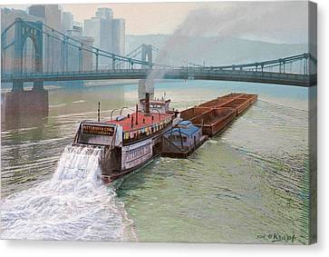Pittsburgh River Boat-1948 Canvas Print
