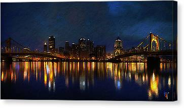 Pittsburgh Skyline 2 Canvas Print
