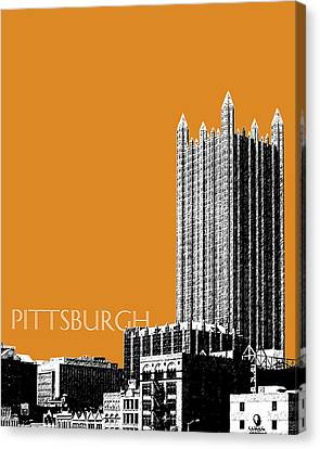 Pittsburgh Skyline Ppg Building - Dark Orange Canvas Print by DB Artist