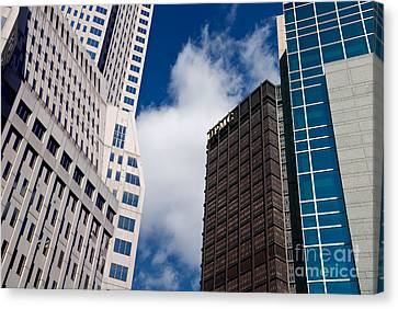 Pittsburgh Skyscrapers Canvas Print by Amy Cicconi
