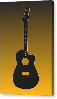 Pittsburgh Steelers Guitar Canvas Print by Joe Hamilton