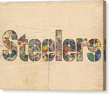 Pittsburgh Steelers Logo Vintage Canvas Print by Florian Rodarte