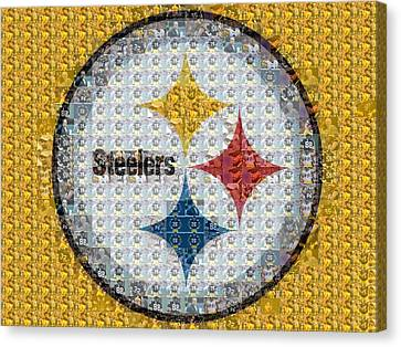 Pittsburgh Steelers Mosaic Logo Canvas Print