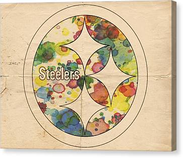 Pittsburgh Steelers Poster Art Canvas Print by Florian Rodarte