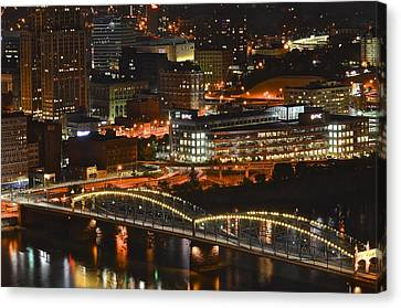 Pittsburgh Up Close Canvas Print by Frozen in Time Fine Art Photography