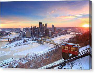 Pittsburgh Winter 2 Canvas Print by Emmanuel Panagiotakis