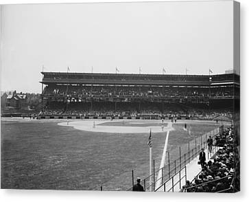 Pittsburgh Pirates Canvas Print - Pittsburgh's Forbes Field 1910s by Mountain Dreams
