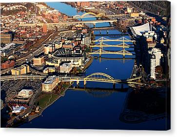 Pittsburgh's North Shore Aerial Canvas Print by Pittsburgh Aerials