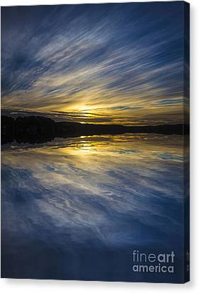 Pittwater Sunset Abstract Canvas Print