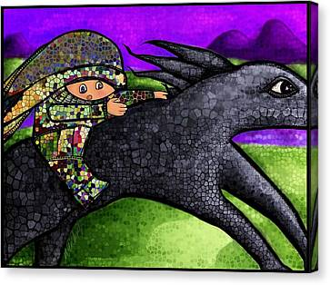 Pixel's Wild Ride Canvas Print