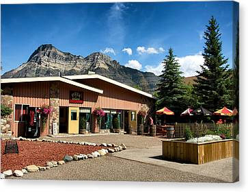 Pizza Of Waterton Canvas Print by Trever Miller