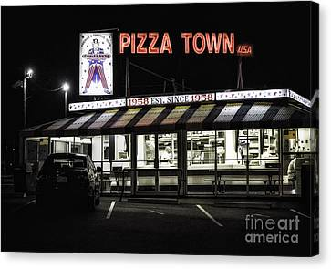 Pizza Town Canvas Print