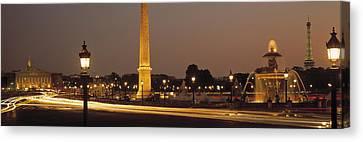 Place De La Concorde Paris France Canvas Print by Panoramic Images
