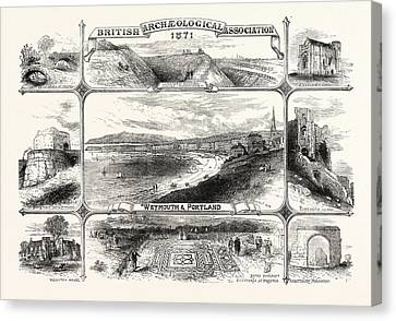 Places Visited By The British Archeological Association Canvas Print by English School