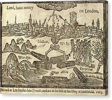 Plague In London Canvas Print by British Library