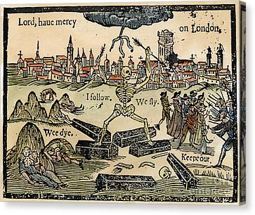 Plague Of London, 1665 Canvas Print by Granger