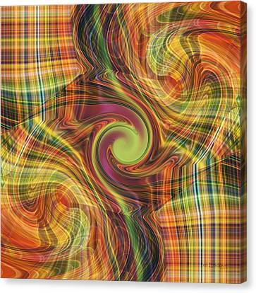 Plaid Tumble Canvas Print by rd Erickson