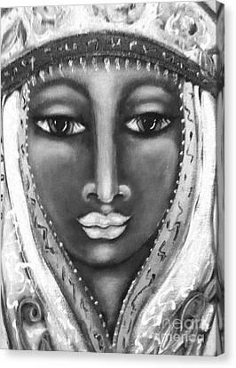 Madonna Canvas Print - Plain As Black And White by Maya Telford