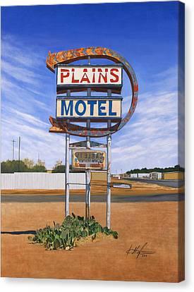 Plains Motel Canvas Print