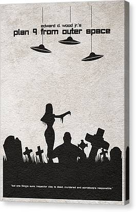 Graveyard Canvas Print - Plan 9 From Outer Space by Inspirowl Design