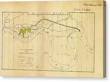 Plan For London Docks Canvas Print