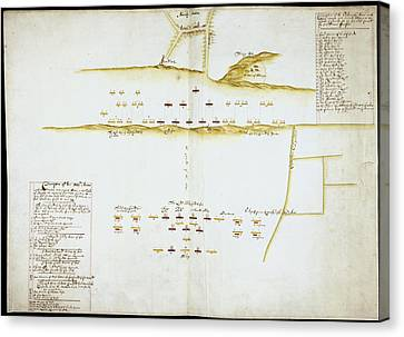 Plan Of Battle Of Naseby Canvas Print