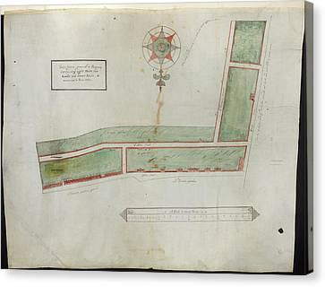 Plan Of Houses In Brick Lane Canvas Print