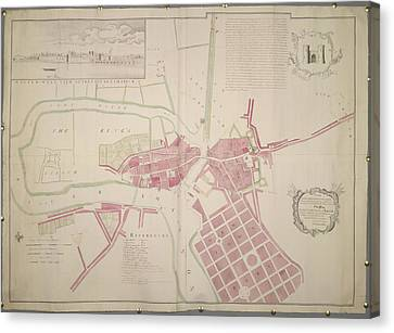 Plan Of Limerick Canvas Print by British Library