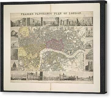 Genus Canvas Print - Plan Of London by British Library