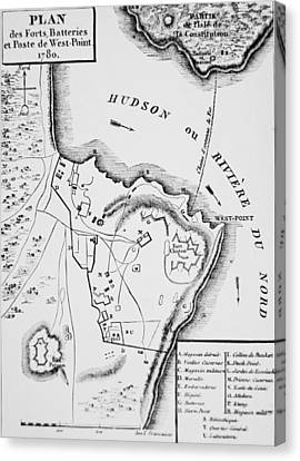 Plan Of West Point Canvas Print by French School