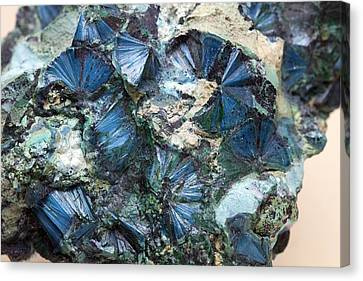 Plancheite Mineral Canvas Print by Science Photo Library