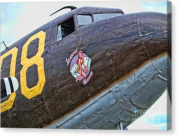 Plane-douglas C-47b Sky Train Canvas Print