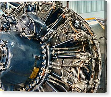 Plane Engine Close Up Canvas Print by Paul Ward