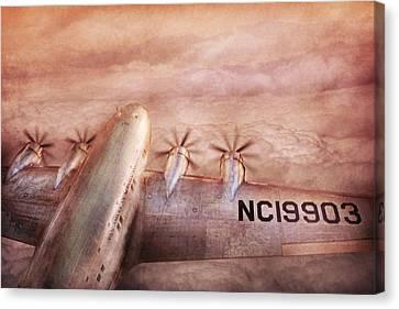 Plane - Pilot - Tropical Getaway Canvas Print by Mike Savad