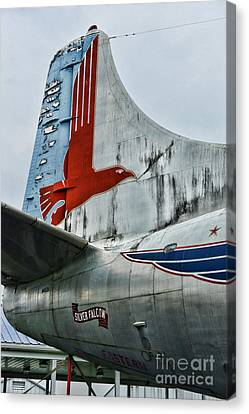 Plane Tail Wing Eastern Air Lines Canvas Print by Paul Ward