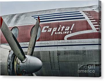 Plane Vintage Capital Airlines Canvas Print by Paul Ward