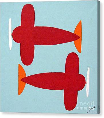 Planes  Canvas Print by Graciela Castro