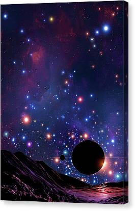 Planet At The Centre Of The Milky Way Canvas Print by Mark Garlick