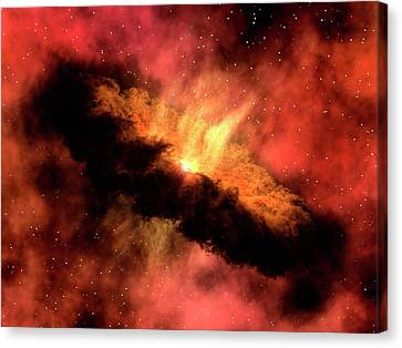 Planet-forming Disk Around A Star Canvas Print by Ngc 1333-iras 4b