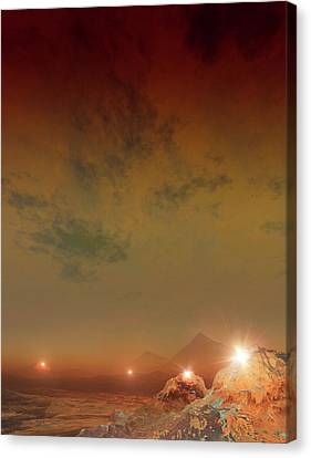 Planet Made Of Diamond Canvas Print