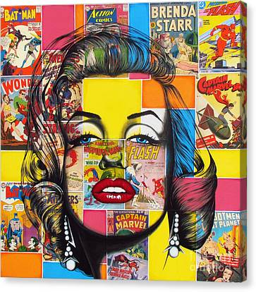 Planet Marilyn Canvas Print by Joseph Sonday