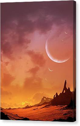 Planet Of Hd113538 Canvas Print by Mark Garlick