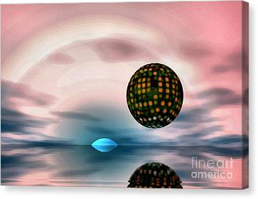 Planet Reflections Canvas Print by Odon Czintos