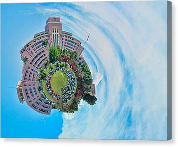Planet Tripler Surreal Canvas Print by Dan McManus